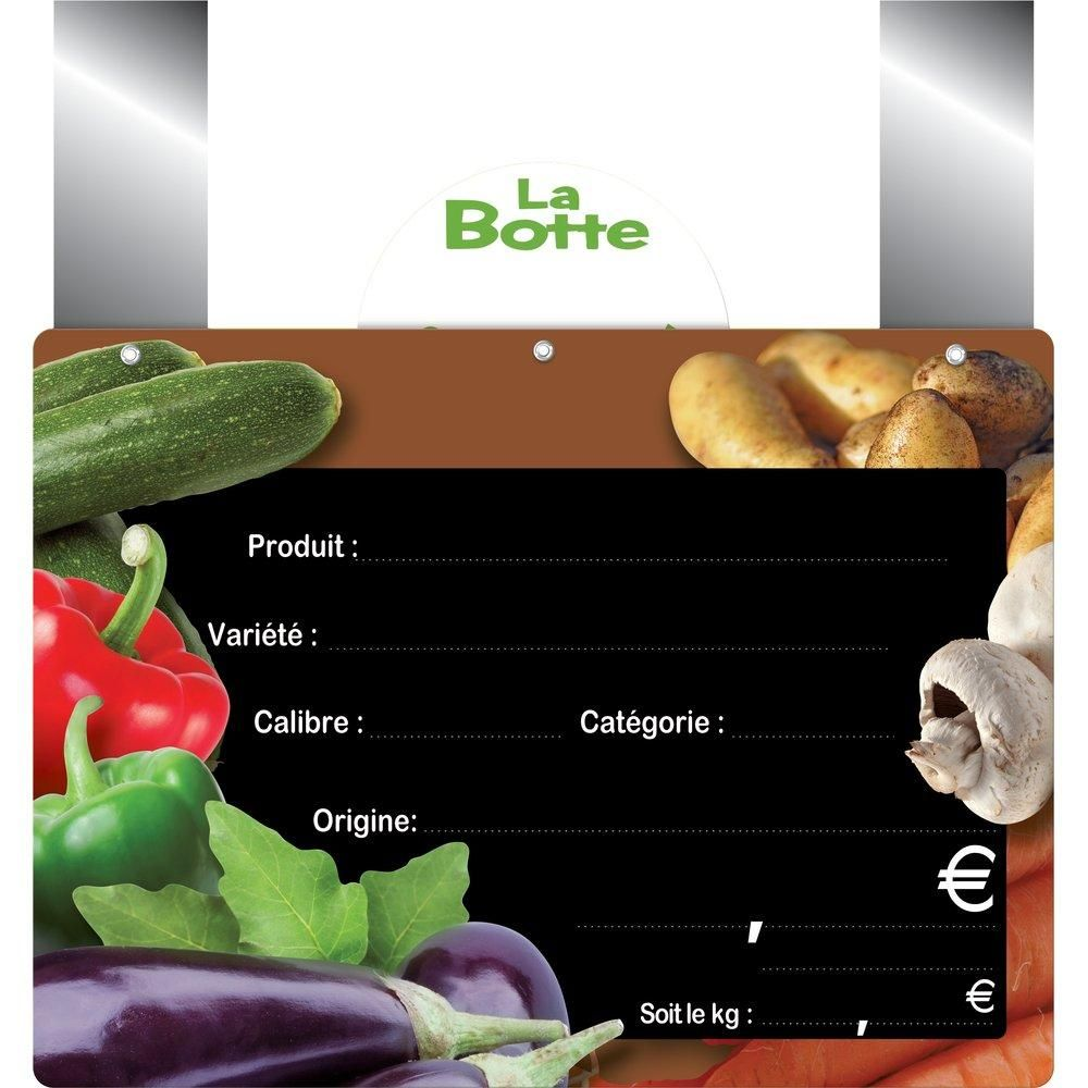 Etiquettes Panière vitaminée vocc à pattes 20X15 cm - sachet de 10 (photo)