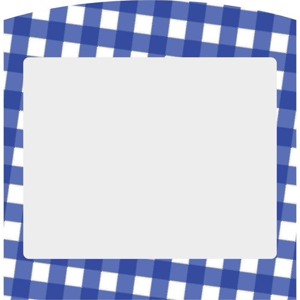 Etiquettes carreaux normands bleus 10X10.5cm - sachet de 10 (photo)
