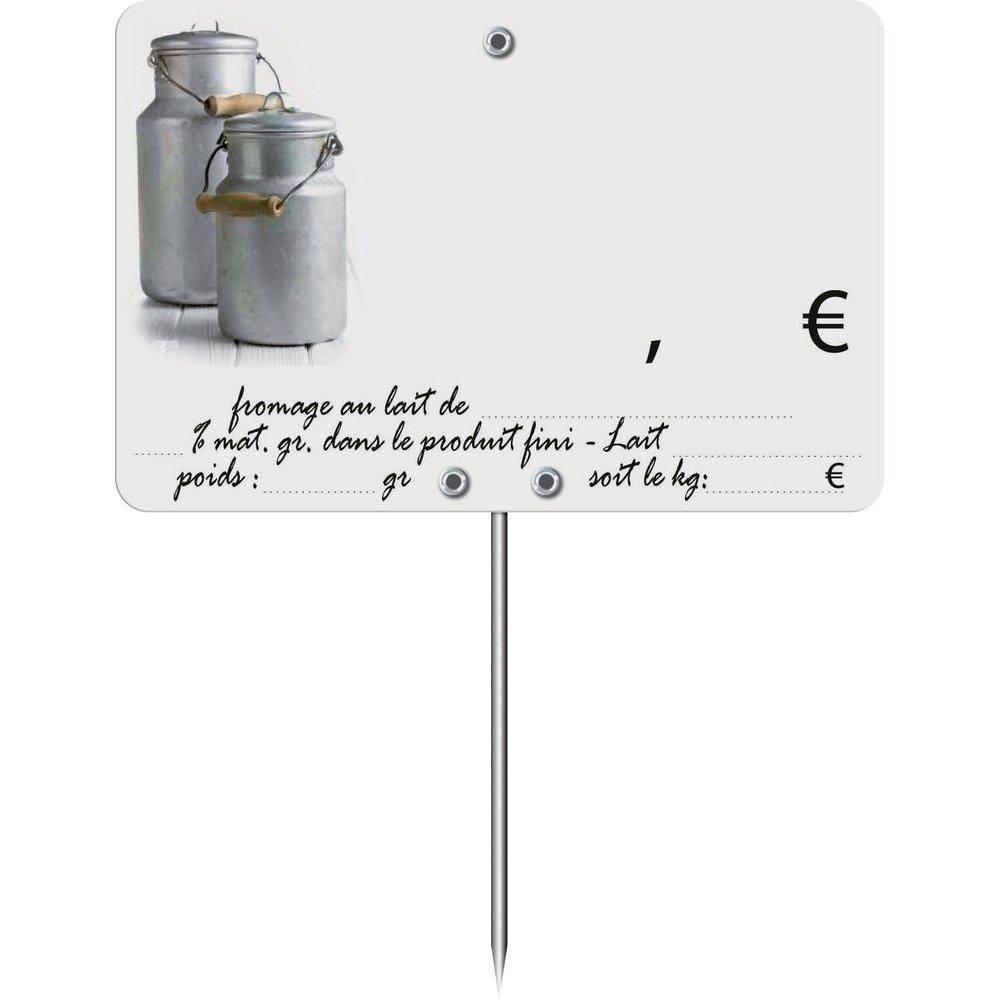 Etiquettes Trad'etiq Pot au lait à roue à pique N°2 10x7cm - sachet de 10 (photo)