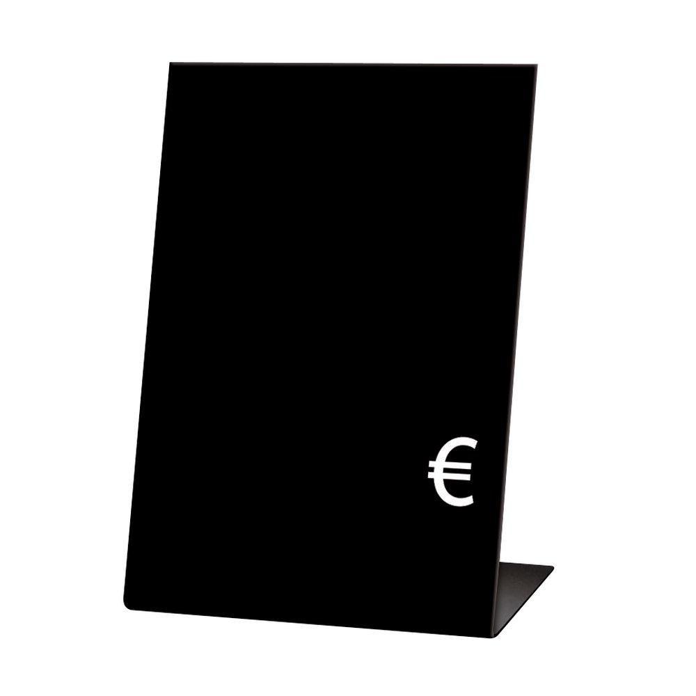 Chevalets noirs (forme L+ € ) 5x7cm - sachet de 10 (photo)