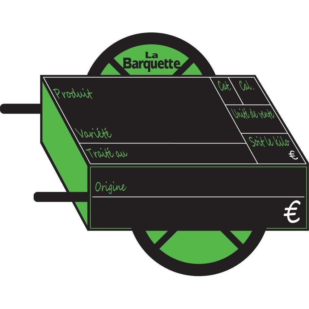 Etiquettes Charrette vocc avec disque 15X10cm - sachet de 10 (photo)