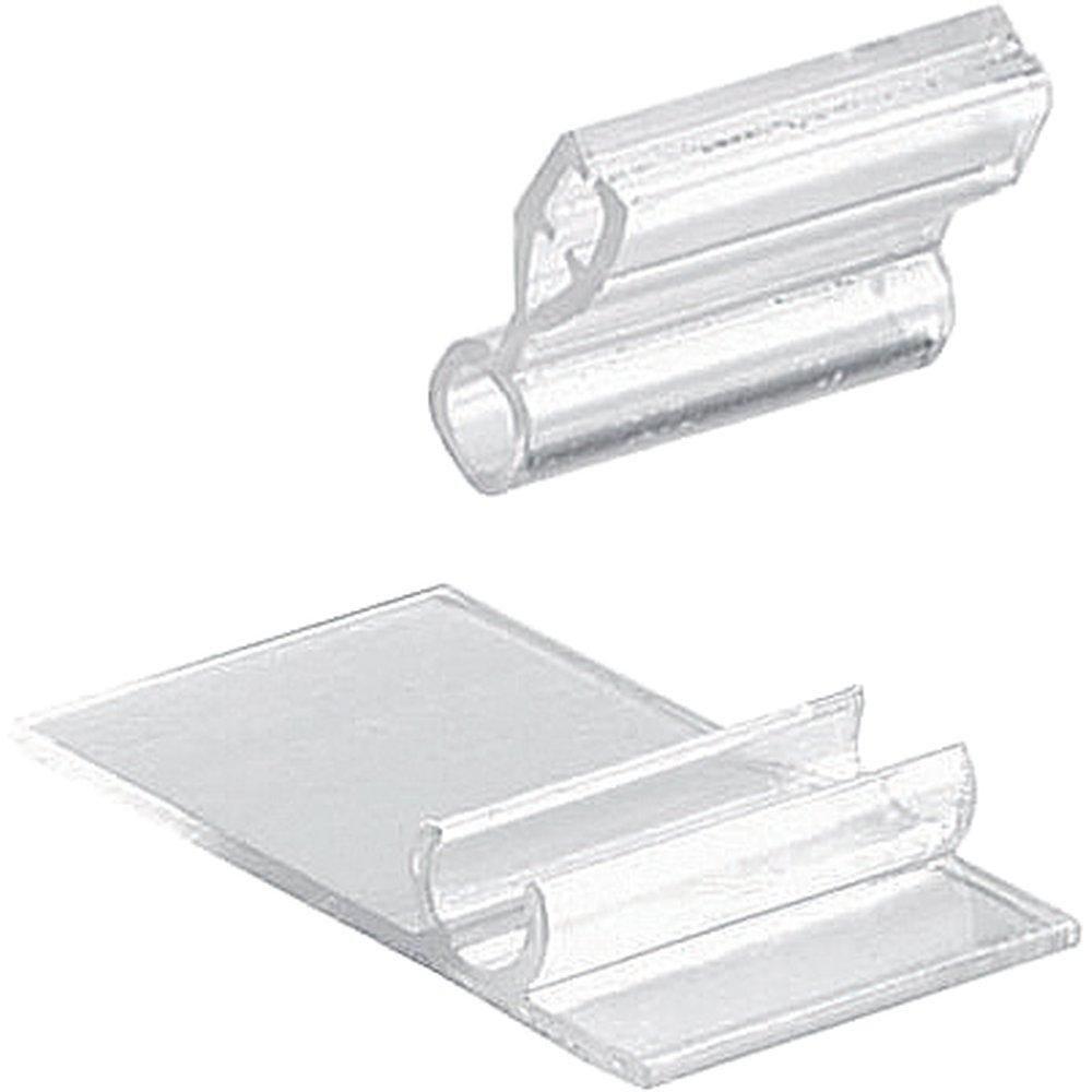 Porte-étiquettes pince translucide 2.5x4.5x2cm - sachet de 10 (photo)