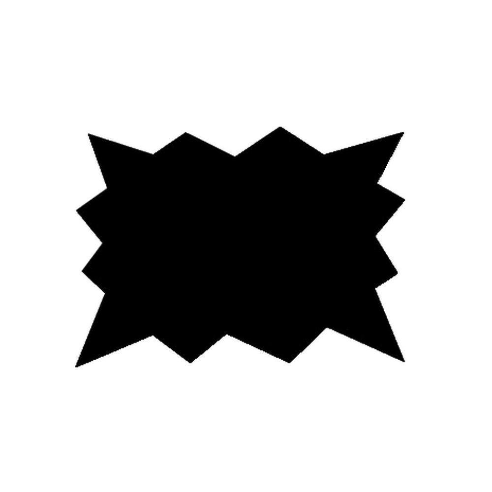 Eclatés 7x5 cm pvc noire 75/100° x 50 (photo)