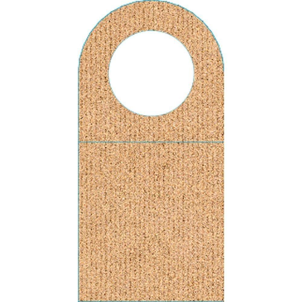 Etiquette goulot bouteille en carton 55x113mm - paquet de 100 (photo)