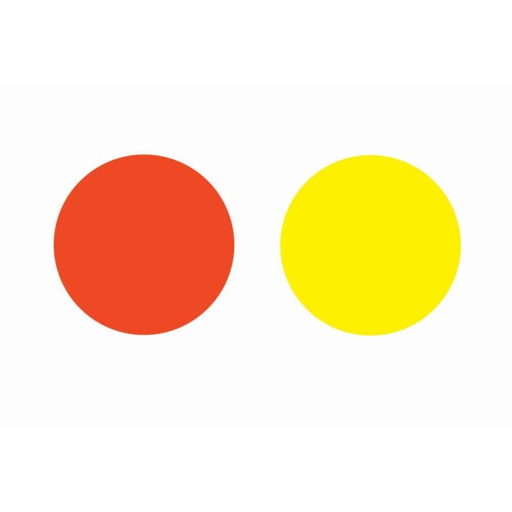 Disques cartons Ø 15 cm x 25 jaune/orange (photo)