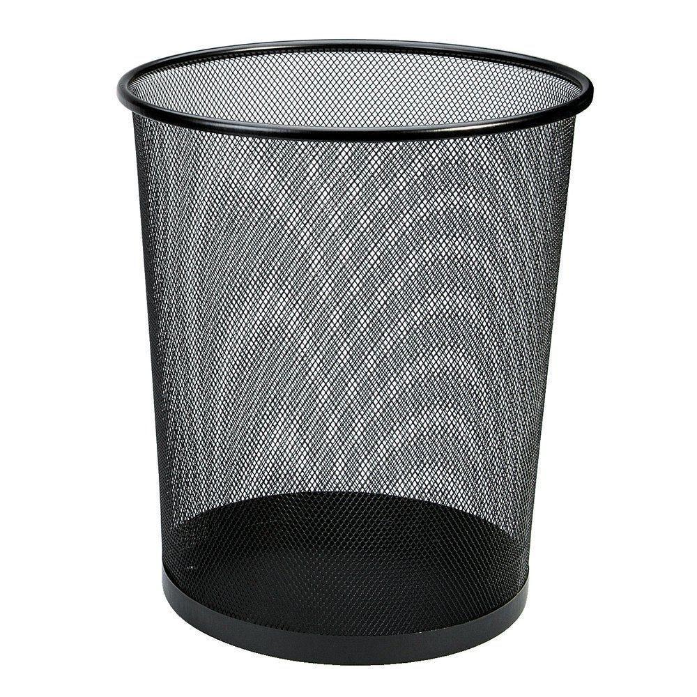 Corbeille à papier 18L noire Ø.29.5 x H. 33,3 cm