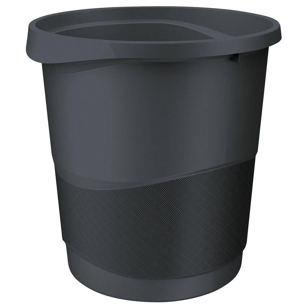 Corbeille à papier Vivida noire 14L (photo)