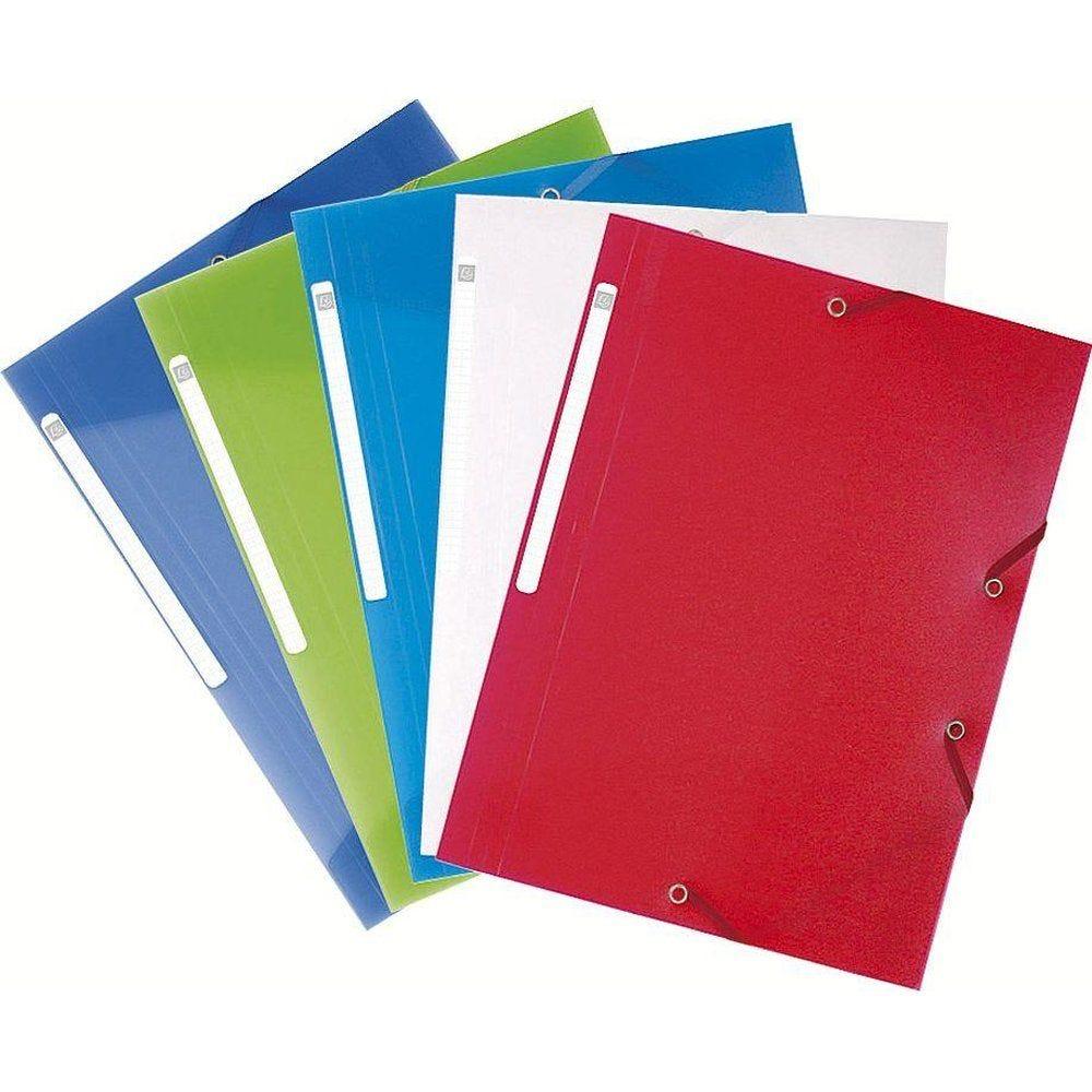 Chemise 3 rabats élastique format A4 coloris assortis (photo)