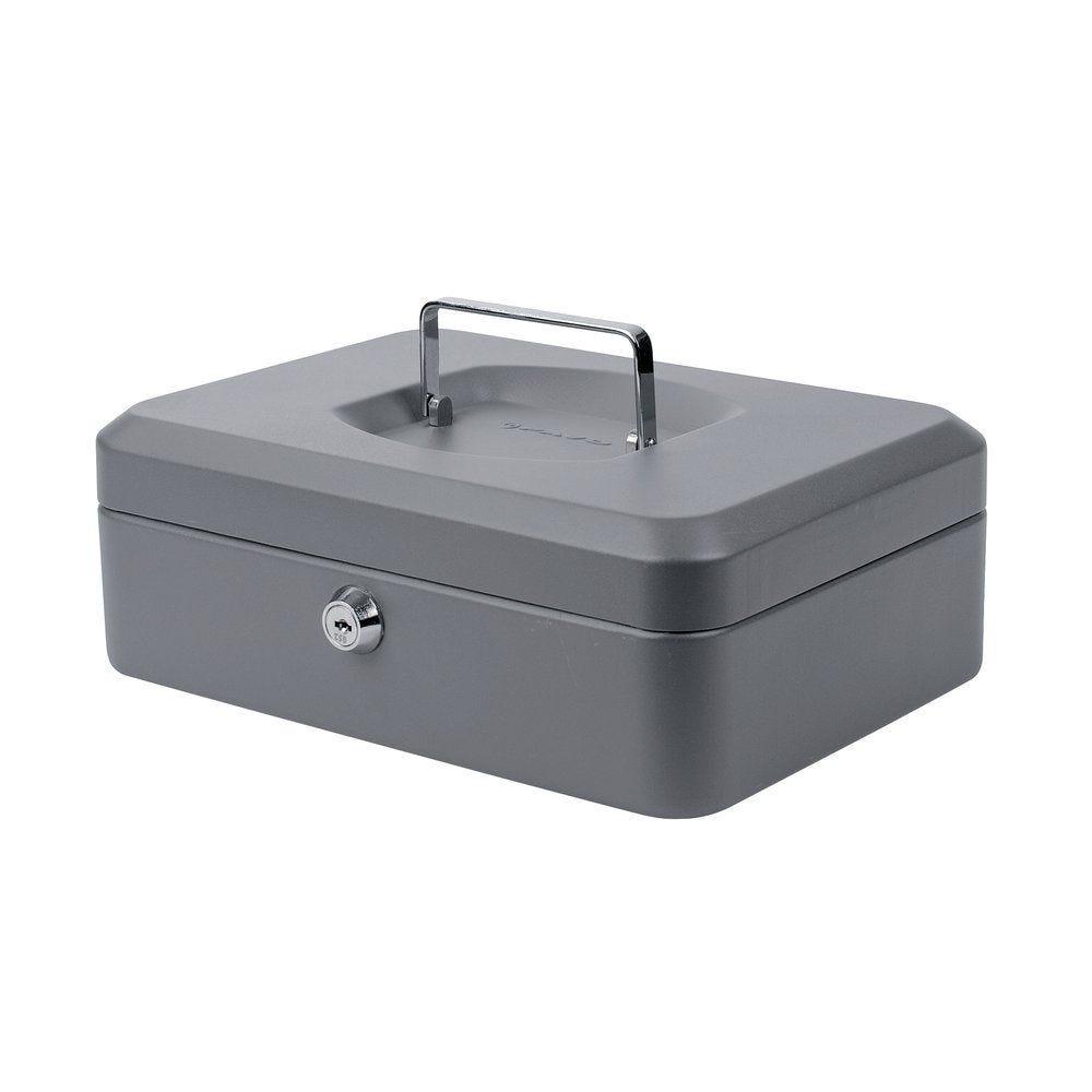Coffre à monnaie 24x30x9 cm gris (photo)