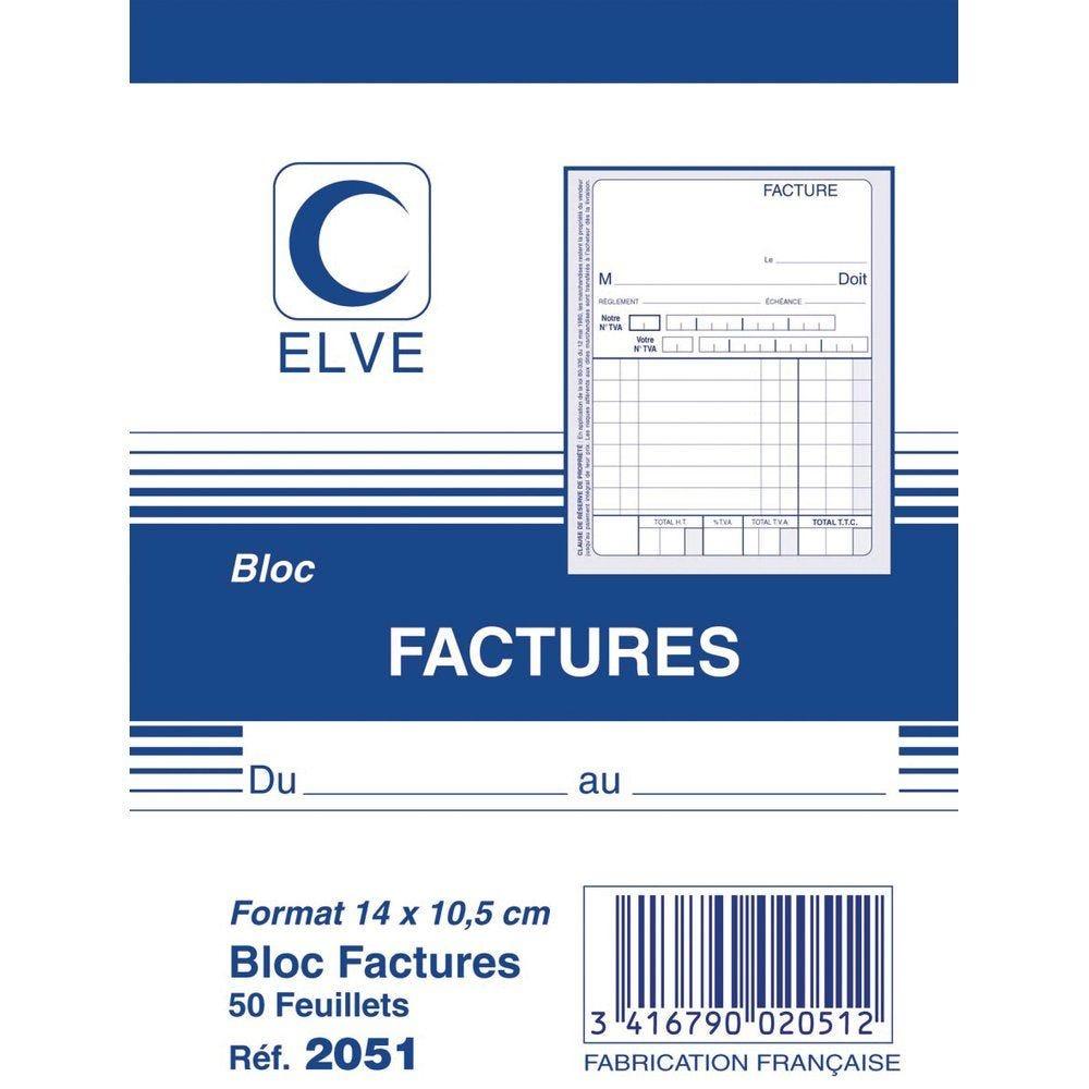 Bloc factures format A6 - 50 feuilles lot de 3 (photo)