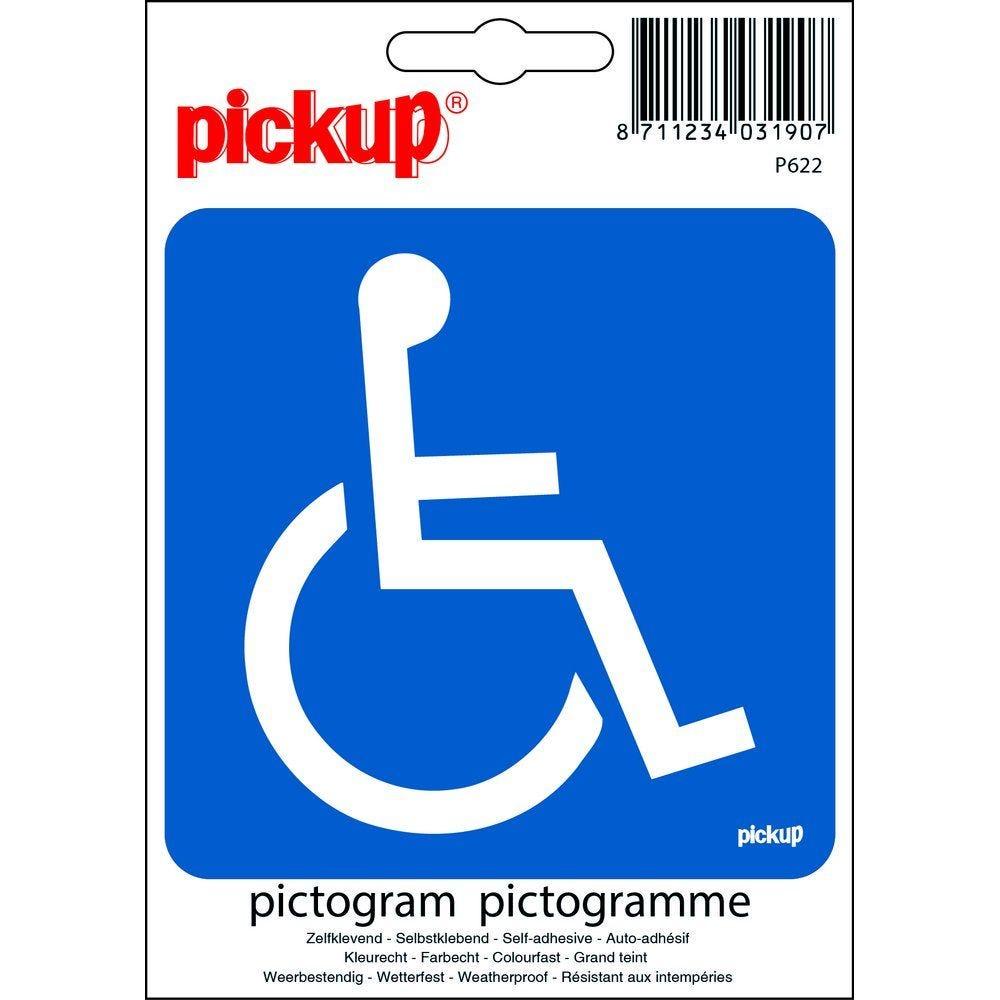 Pictogramme accessible P M R 10x10 cm (photo)