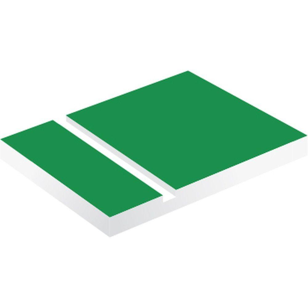 Plaque à graver 120x30 mm 3 lignes vert pomme/blanc 1.6 mm épaisseur (photo)