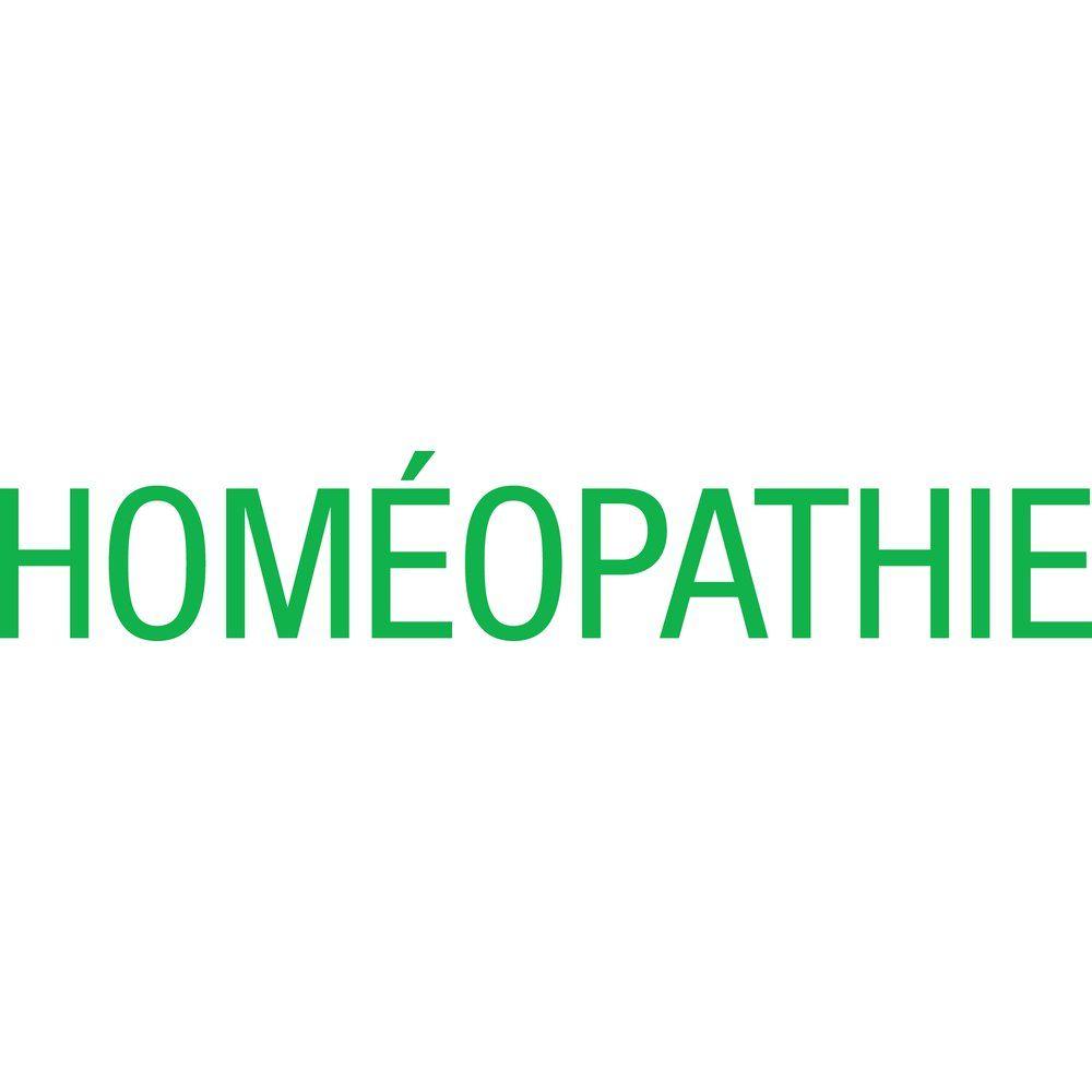 Sticker texte homéopathie vert 12.7x100 cm (photo)