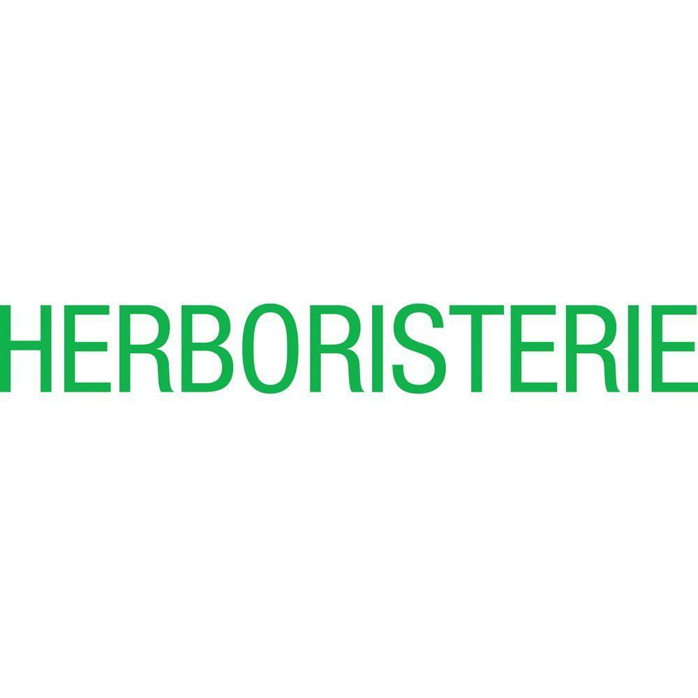 Sticker texte herboristerie vert 10.4x80.4 cm (photo)