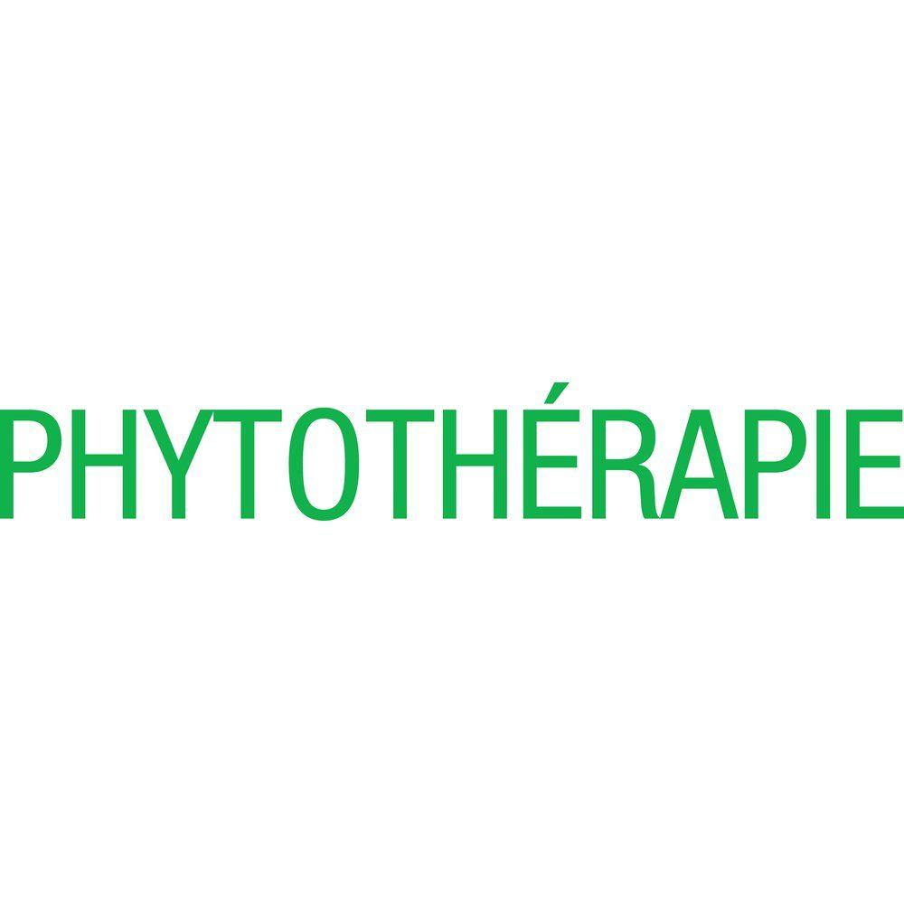 Sticker texte phytothérapie vert 12.7x83.2 cm (photo)