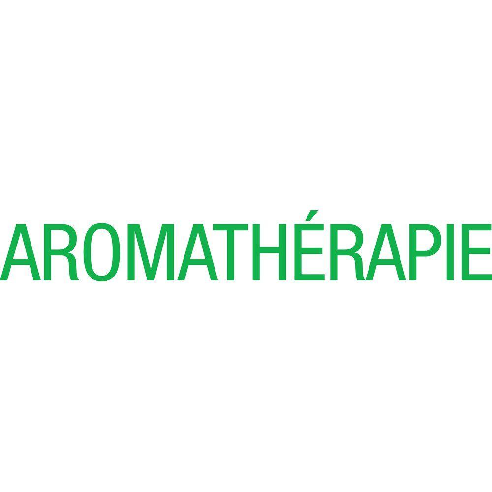 Sticker texte aromathérapie vert 12.7x87.3 cm (photo)