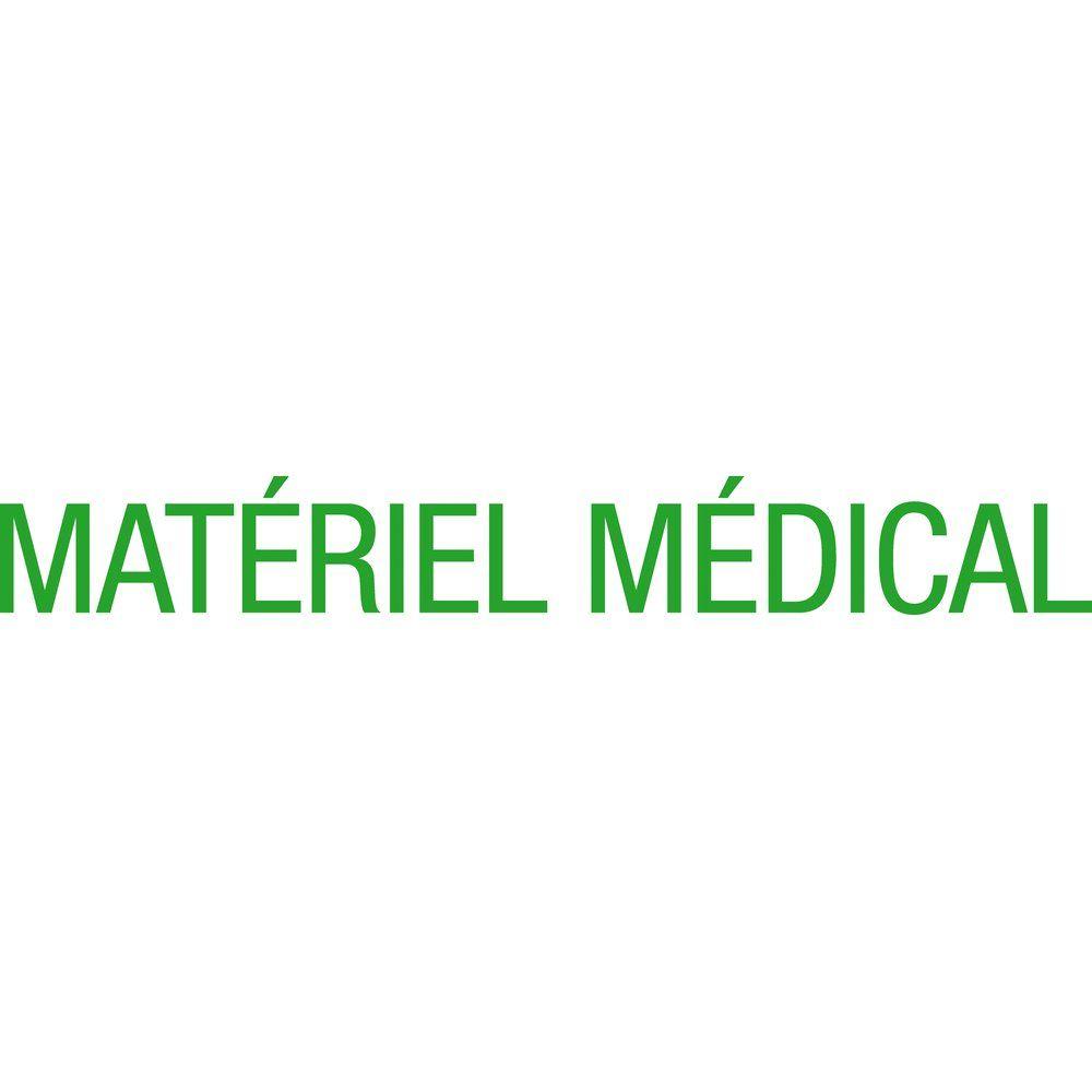 Sticker texte matériel médical vert 12.7x100 cm (photo)