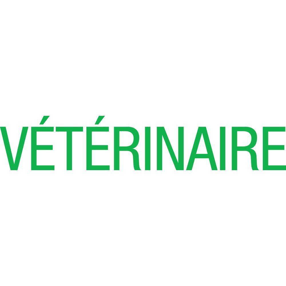 Sticker texte vétérinaire vert 12.7x66.9 cm (photo)