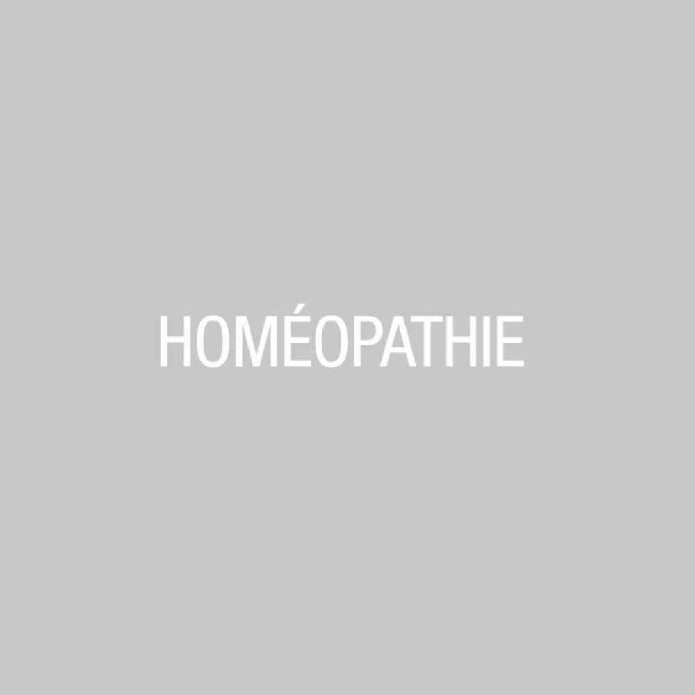 Sticker texte homéopathie blanc 12.7x100 cm (photo)