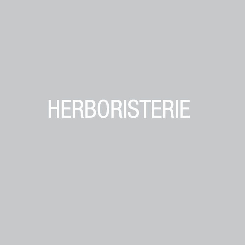 Sticker texte herboristerie blanc 10.4x80.4 cm (photo)