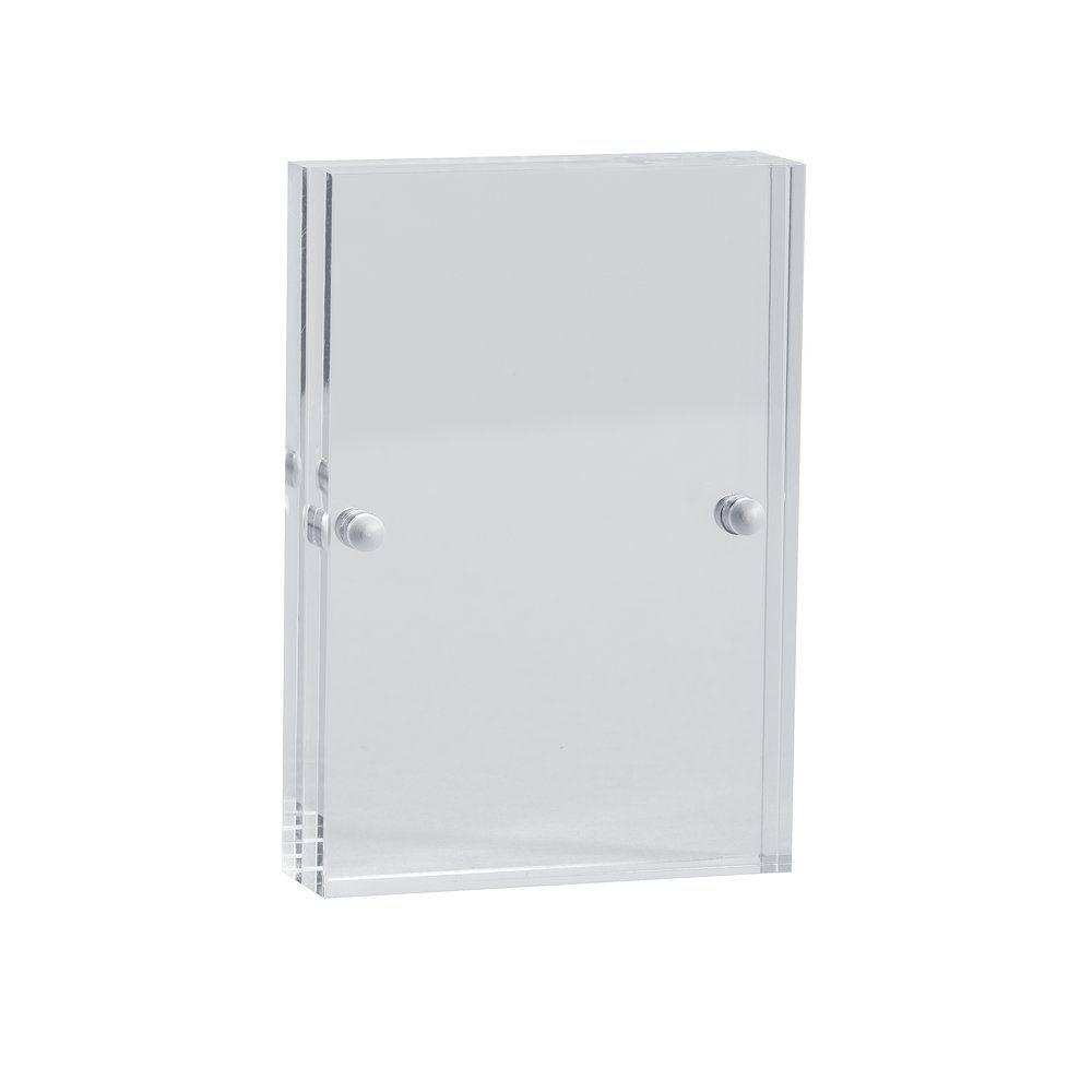 Cadre transparent magnétique en acrylique A8 x3 52x74 mm (photo)