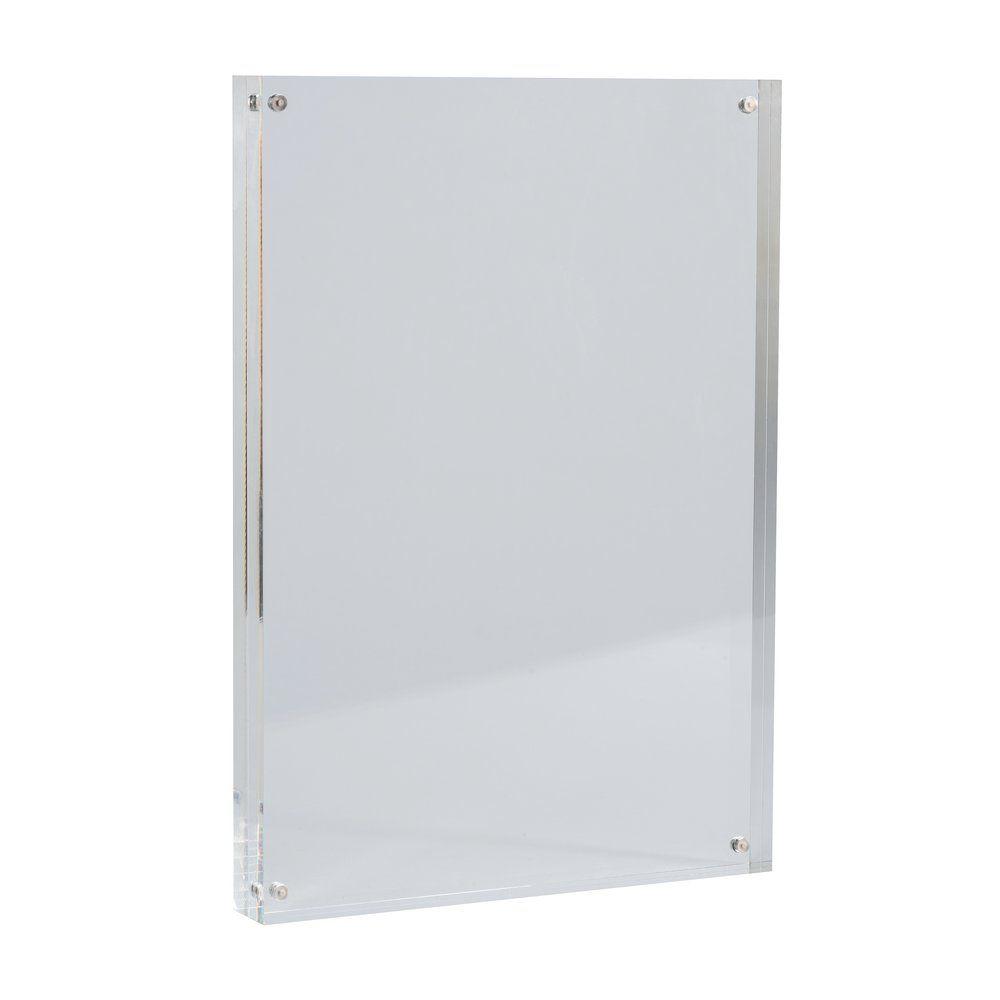 Cadre transparent magnétique en acrylique A4 210x300mm (photo)