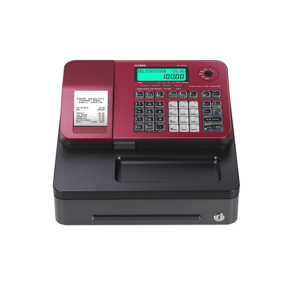Caisse enregistreuse CASIO SE-S100SB-RD rouge (photo)