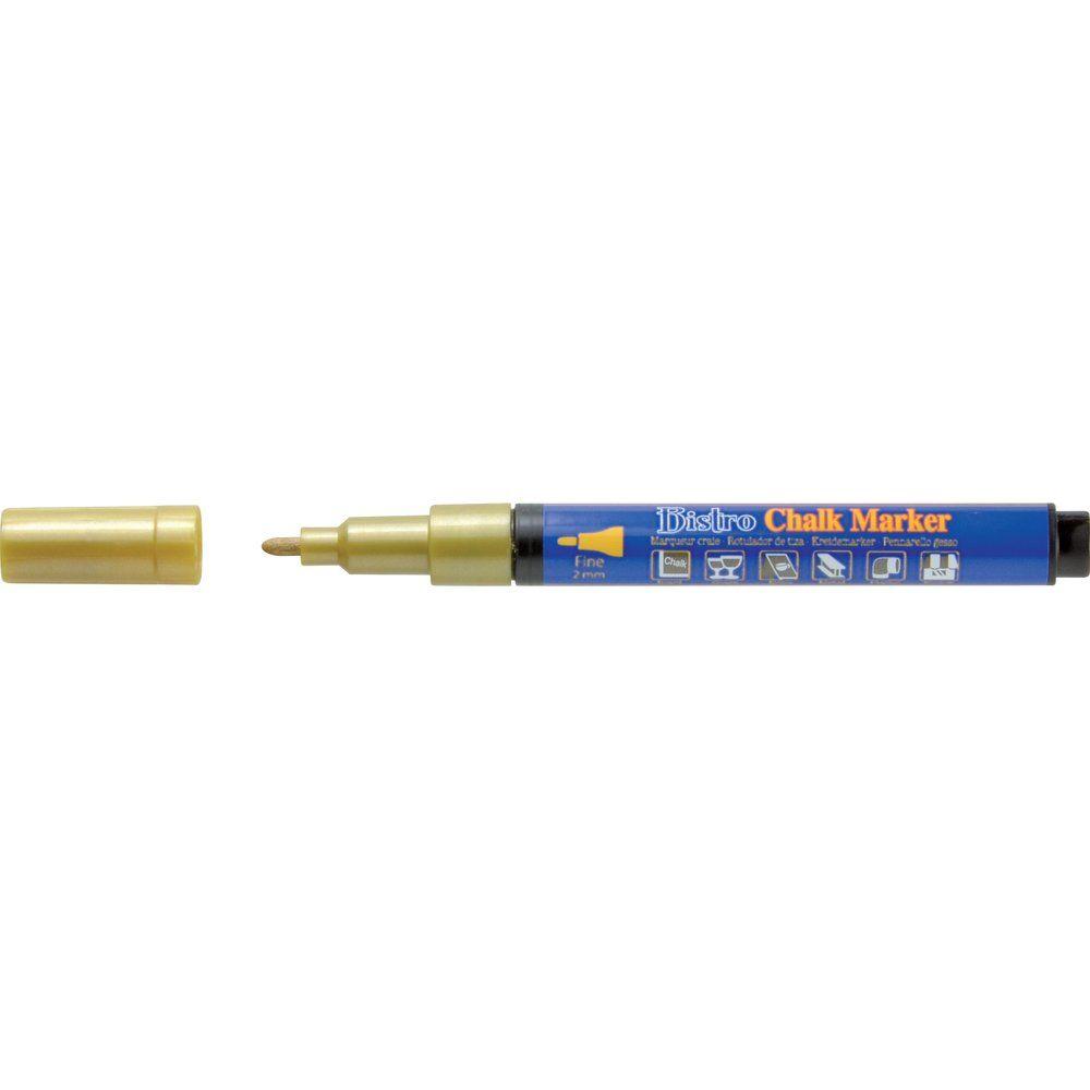 Marqueur craie or INDOOR pointe ronde fine 2 mm