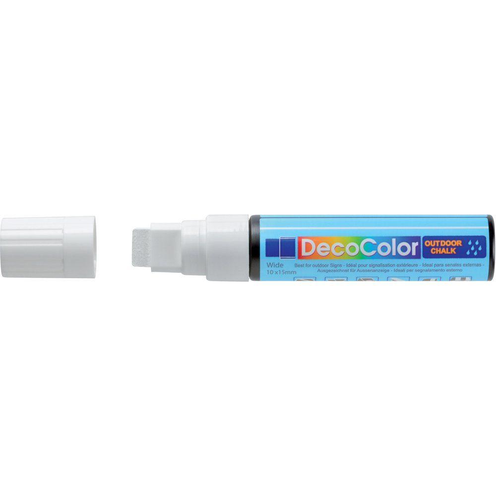 Marqueur craie blanc OUTDOOR pointe rectangulaire 10-15 mm