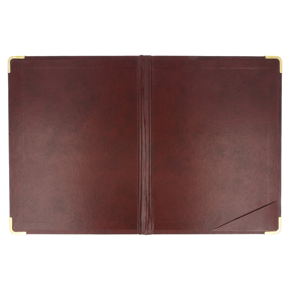 Calepin pour bloc addition cuir bordeaux 16,5x22,5cm