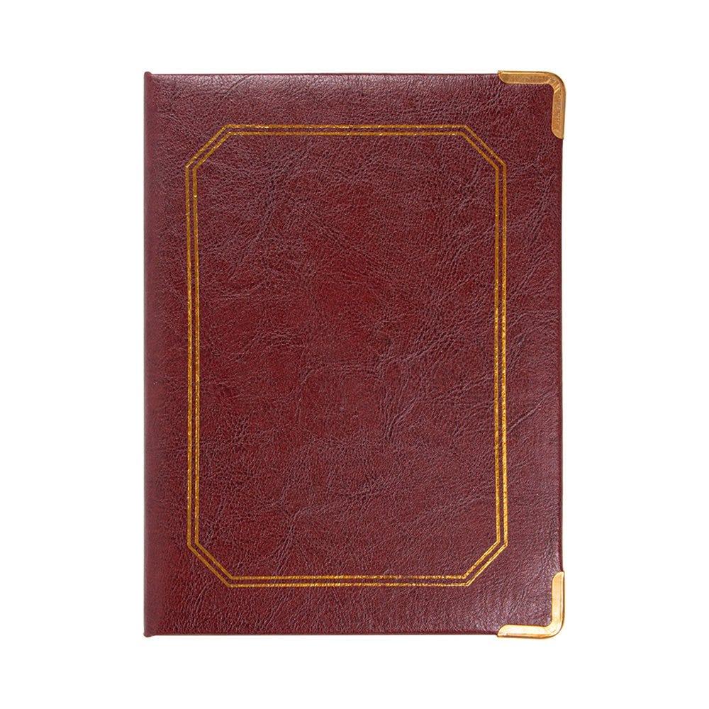 Boîte pour addition cuir bordeaux 17x22,8x2cm