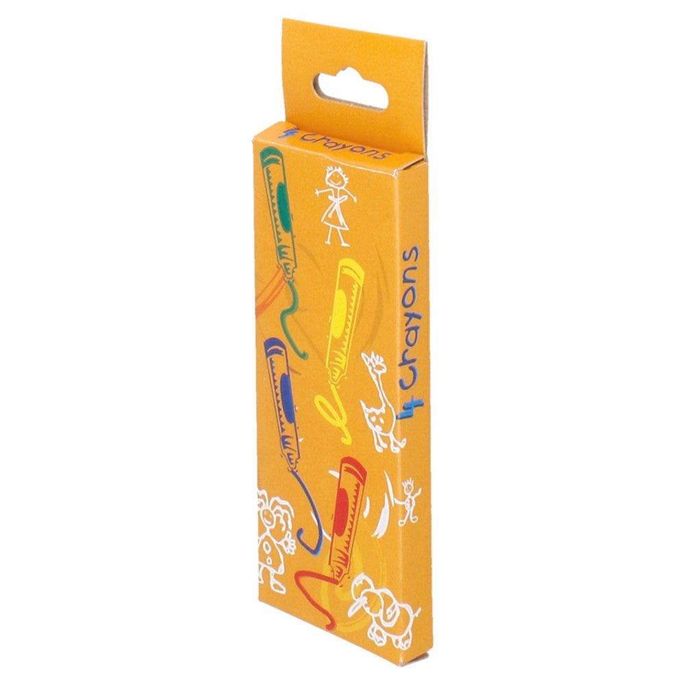 Boîte de 4 crayons cire de couleurs 9x3,4x1cm - par 48