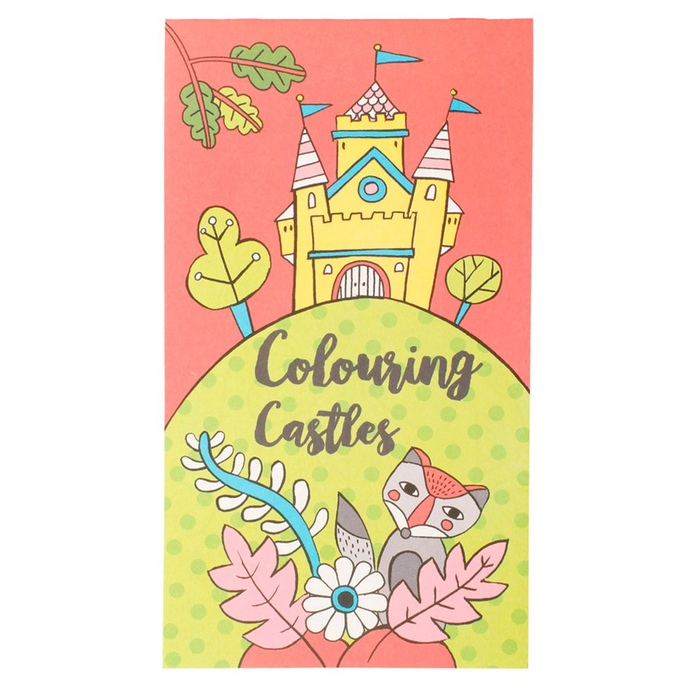 Cahier de coloriages Châteaux 12,5x22cm - par 100