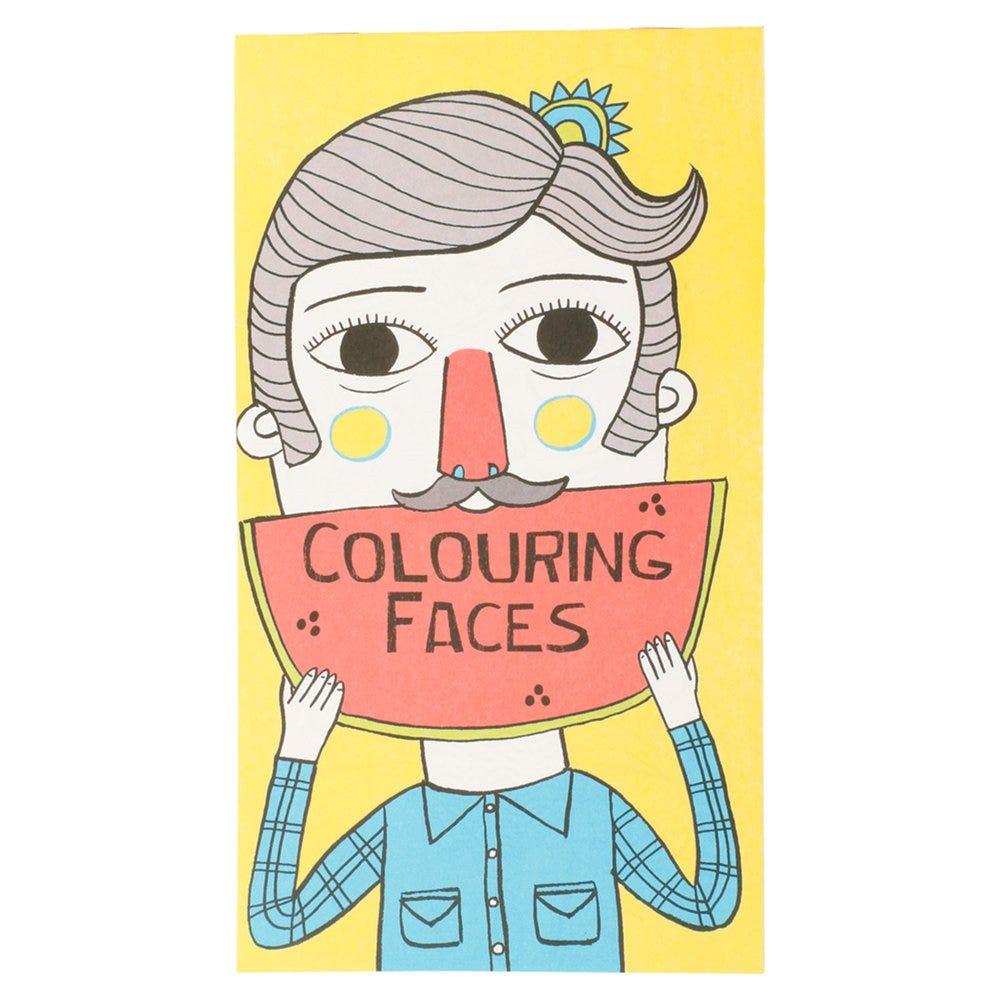 Cahier de coloriages Visages 12,5x22cm - par 100
