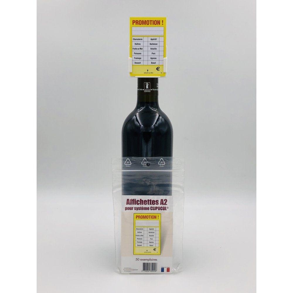 Affichettes bouteille pour Clipocol Promotion 4,8x7,5cm - par 50