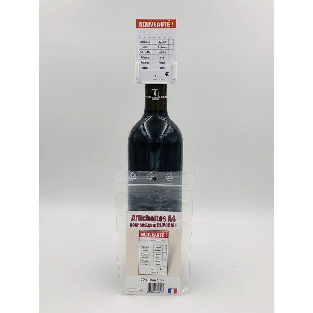 Affichettes bouteille  pour Clipocol Nouveauté 4,8x7,5cm - par 50