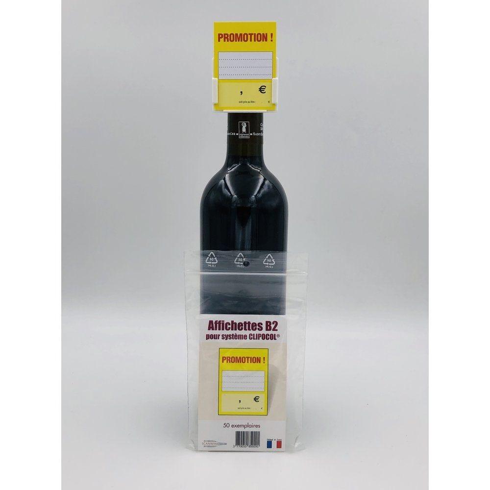 Affichettes bouteille pour Clipocol Promotion 4,8x6,5cm - par 50