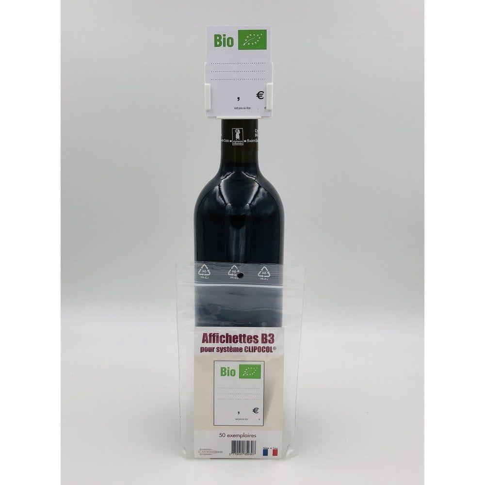 Affichettes bouteille pour Clipocol Bio 4,8x6,5cm - par 50