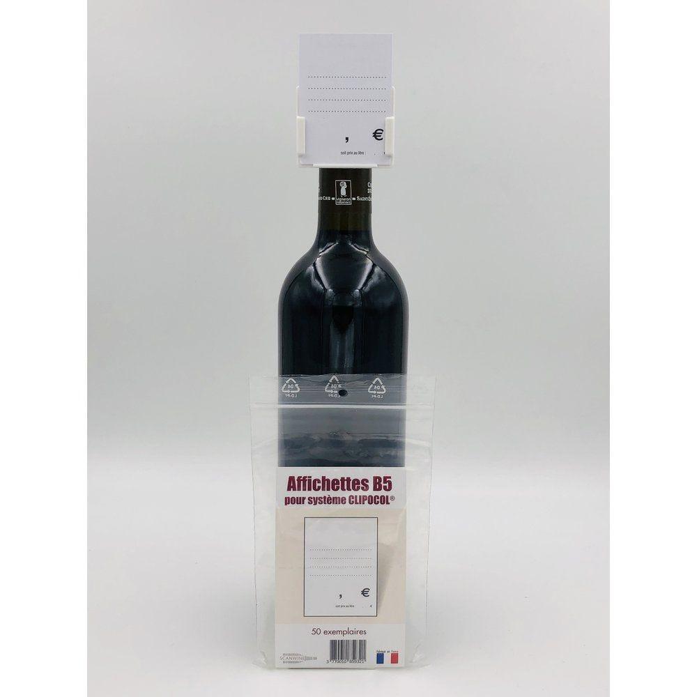 Affichettes bouteille pour Clipocol Standart 4,8x6,5cm - par 50