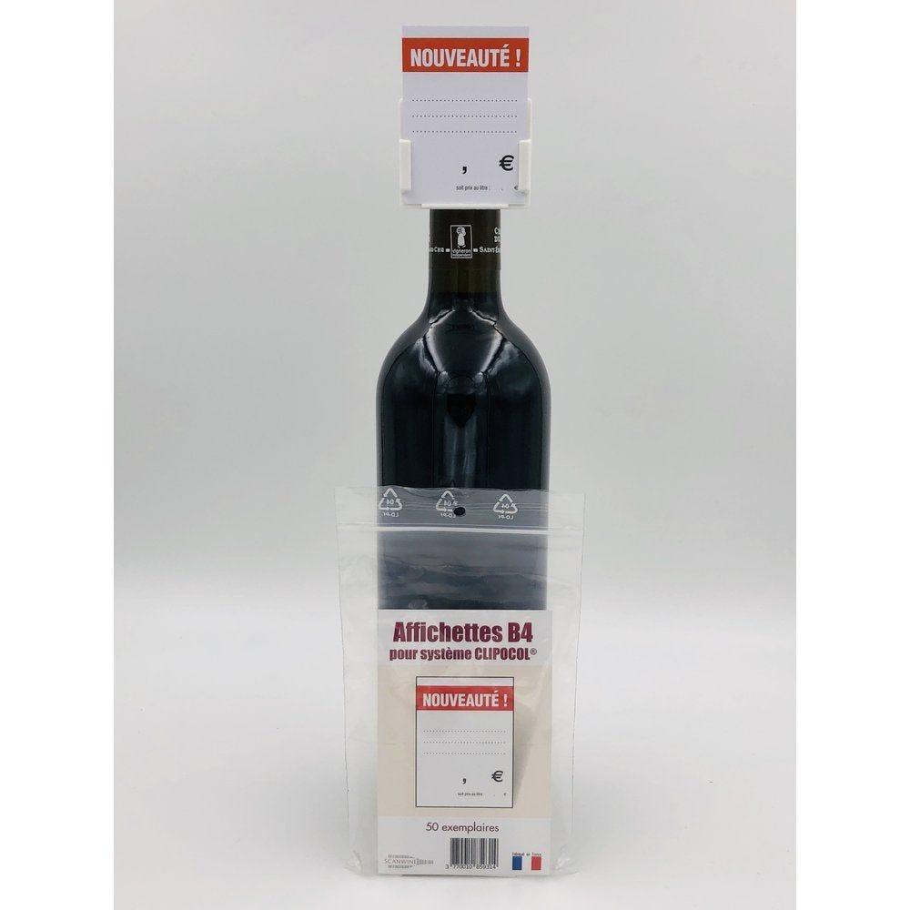 Affichettes bouteille pour Clipocol Nouveauté 4,8x6,5cm - par 50