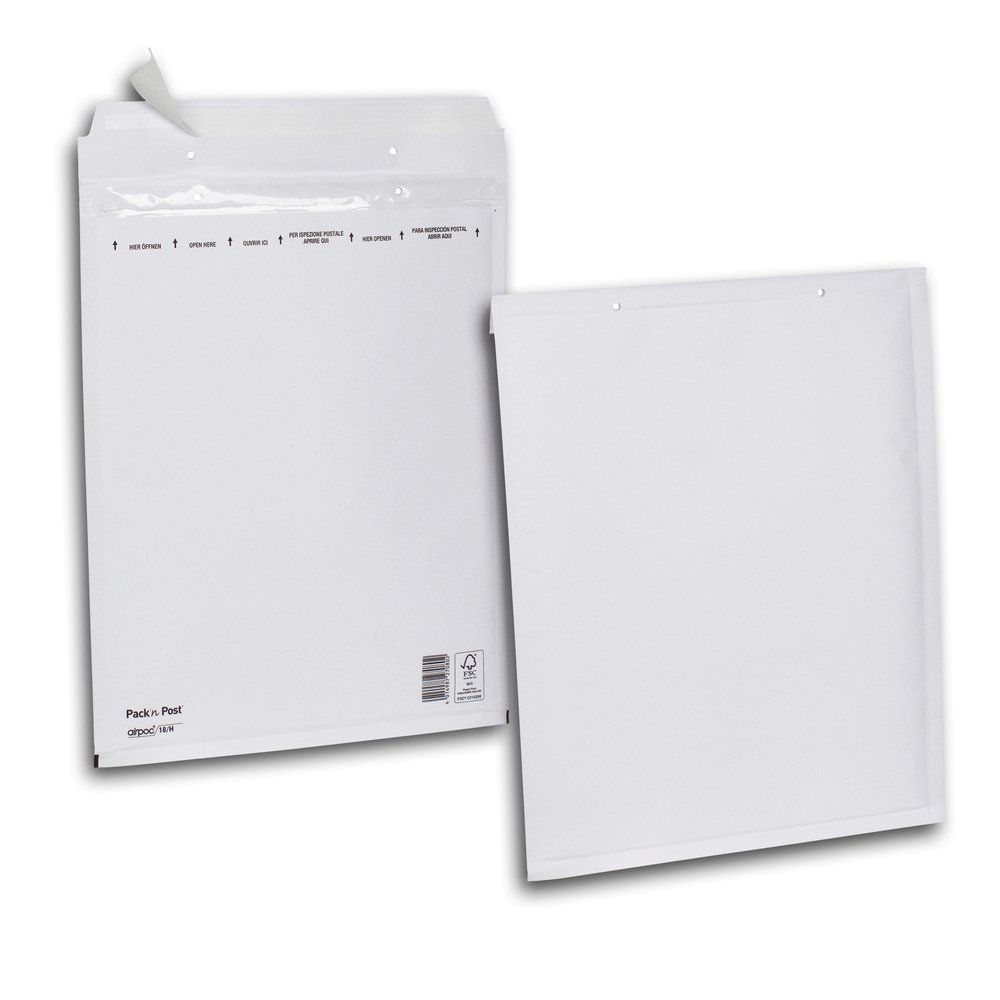 Enveloppe bulle kraft blanche 30x38cm - par 100