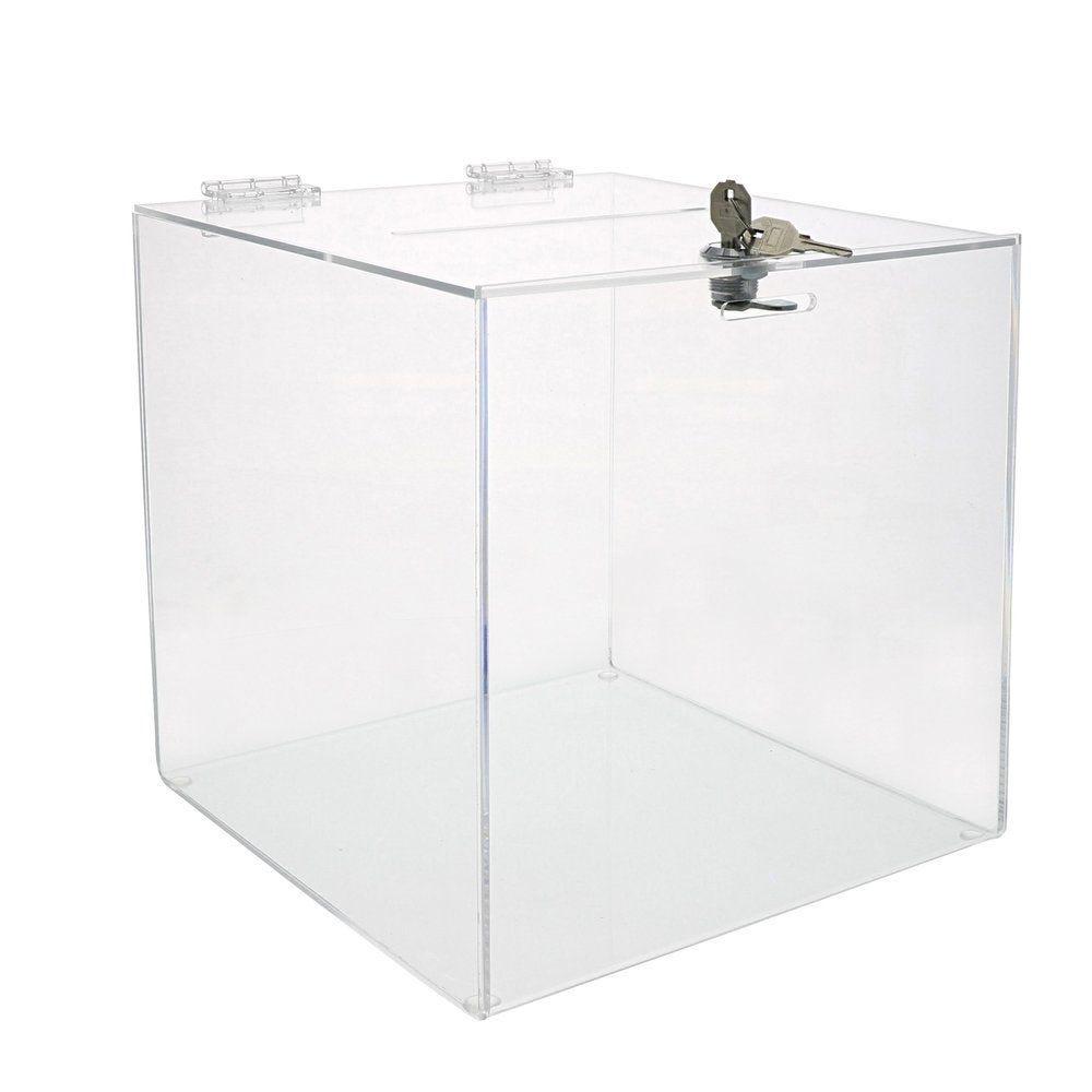 Urne plexiglass 25x25x25cm