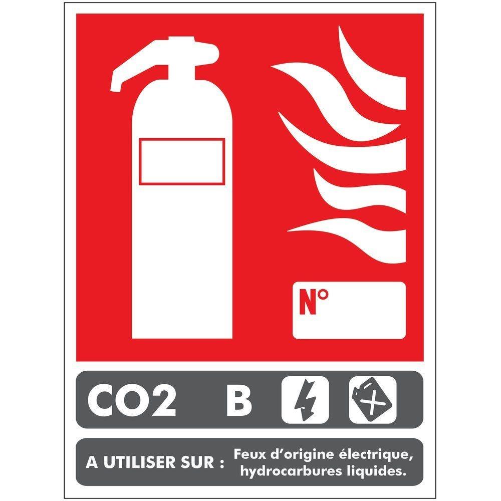 Panneau classe de feu B 100 x 150 mm CO2 PVC