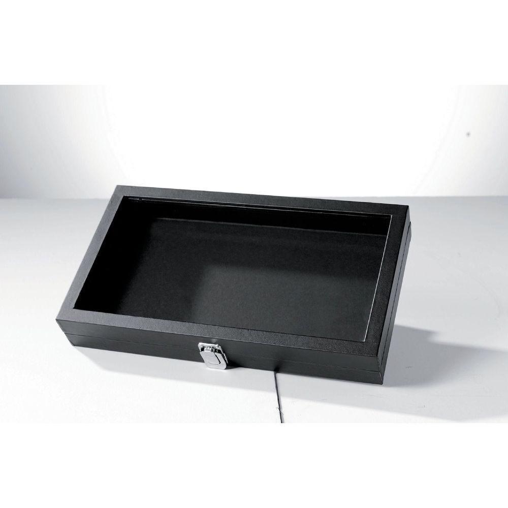 Boîte à bijoux noire - 37.5 x 20.5 x 5.5 cm (photo)