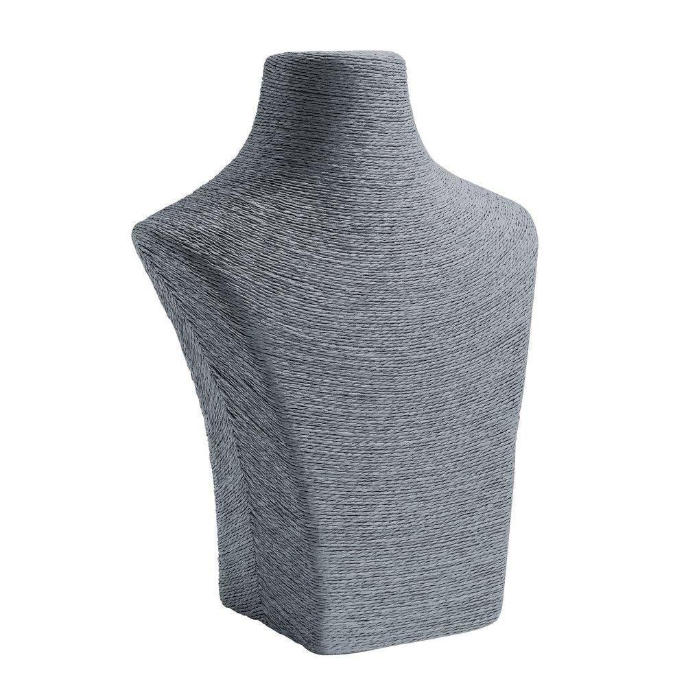 Porte colliers buste gris L24 x P11 x H30cm