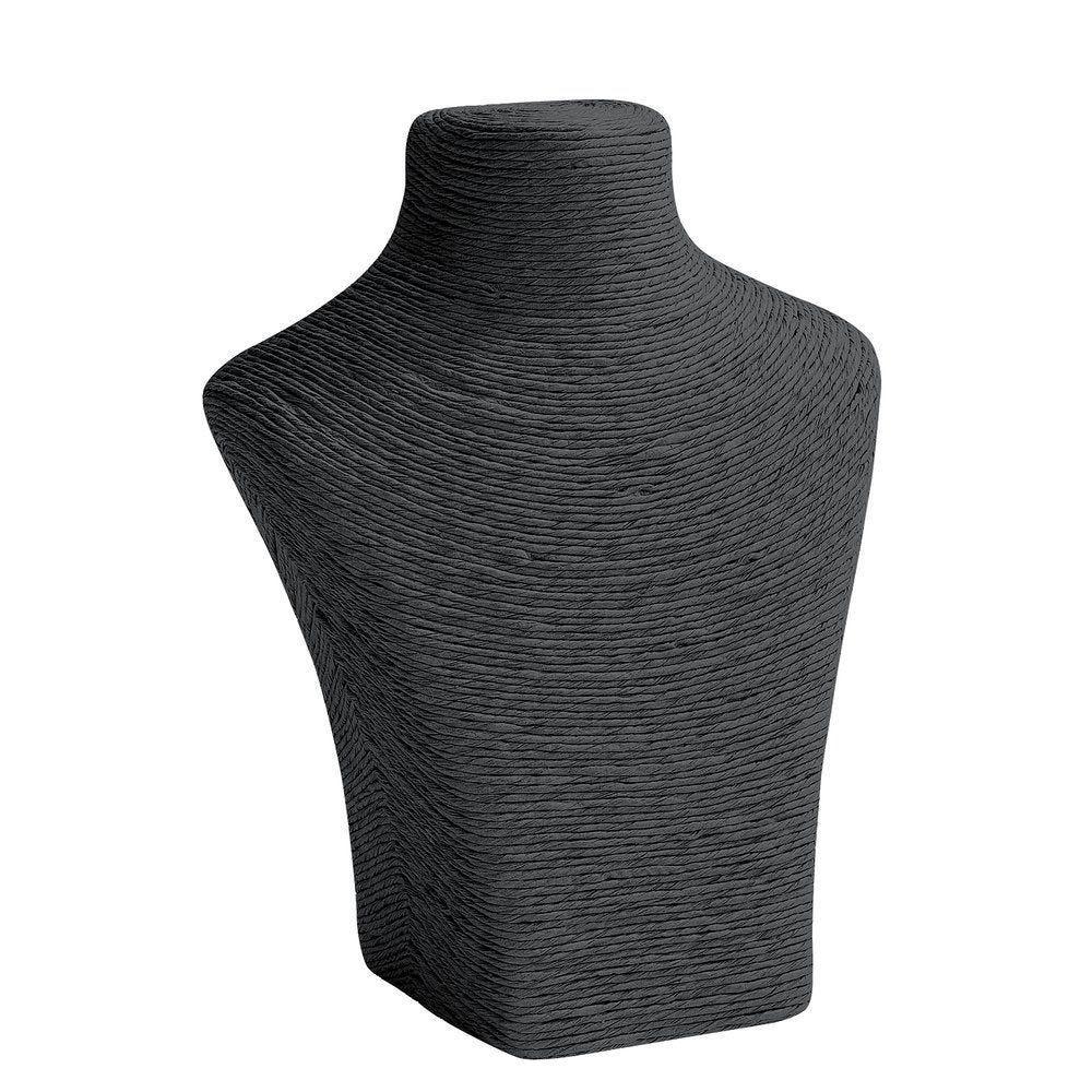 Porte colliers buste noir L24 x P11 x H30cm