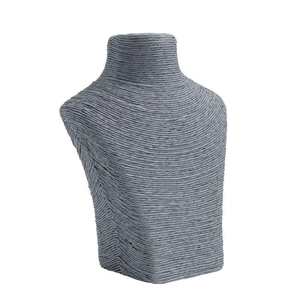 Porte colliers buste gris L17 x P8 x H21cm