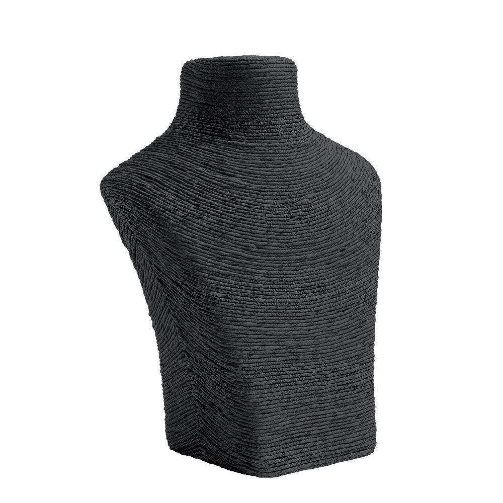 Porte colliers buste noir L17 x P8 x H21cm