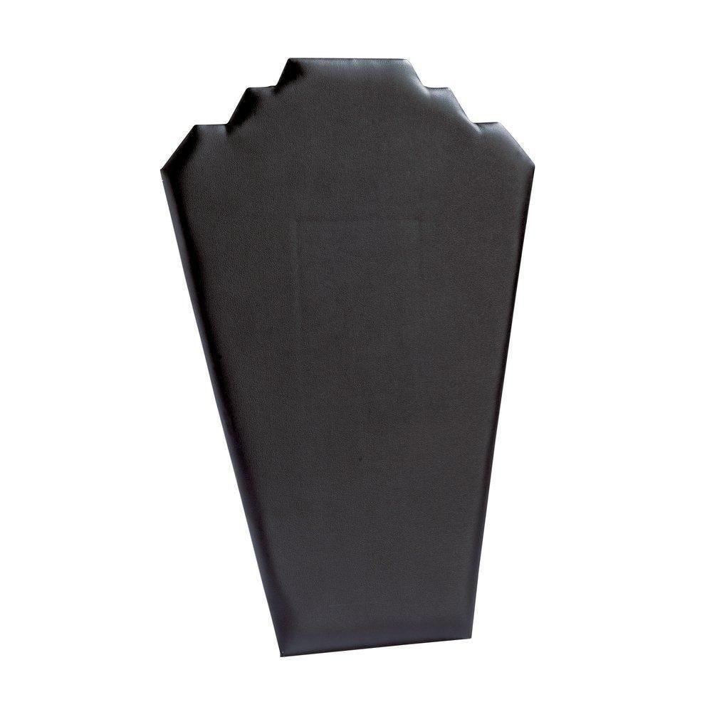 Présentoir collier plat simili cuir noir H31cm