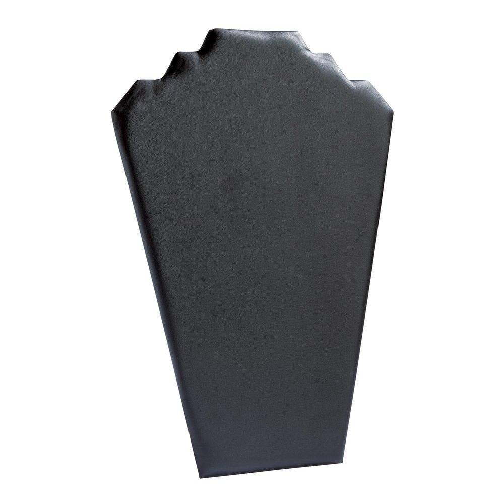 Porte collier plat simili cuir noir H35cm